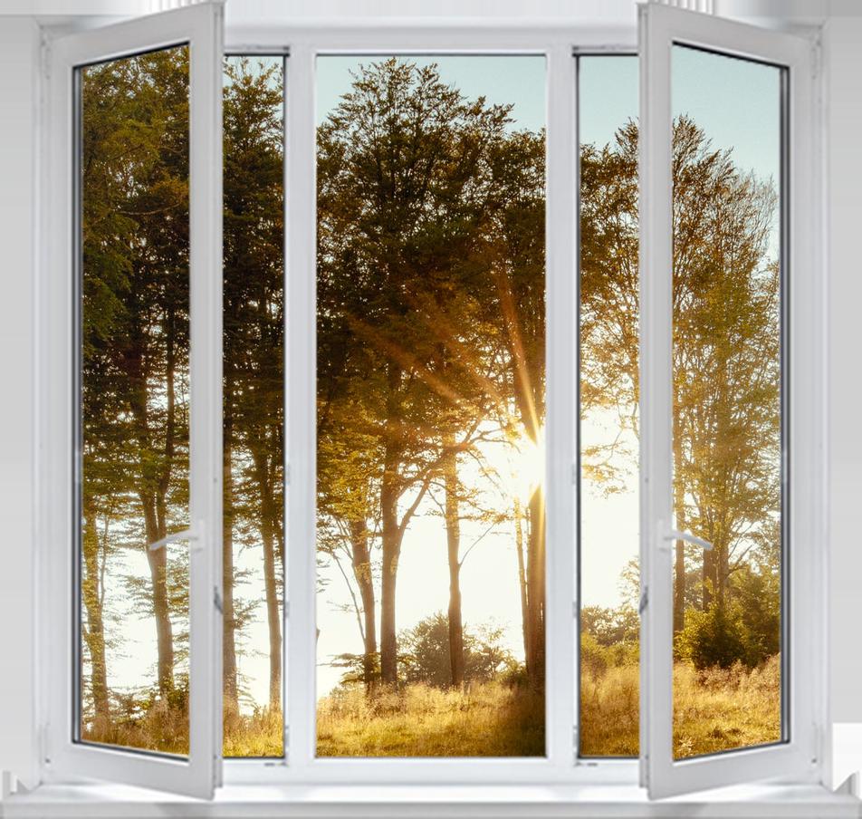 Трехстворчатые окна фото